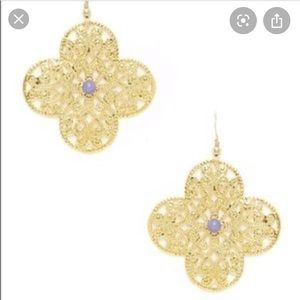 KEP Designs lilac and gold filigree earrings